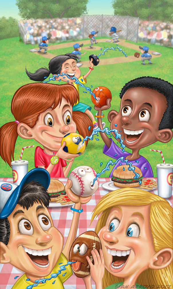 Toy Catalog Cover Illustration