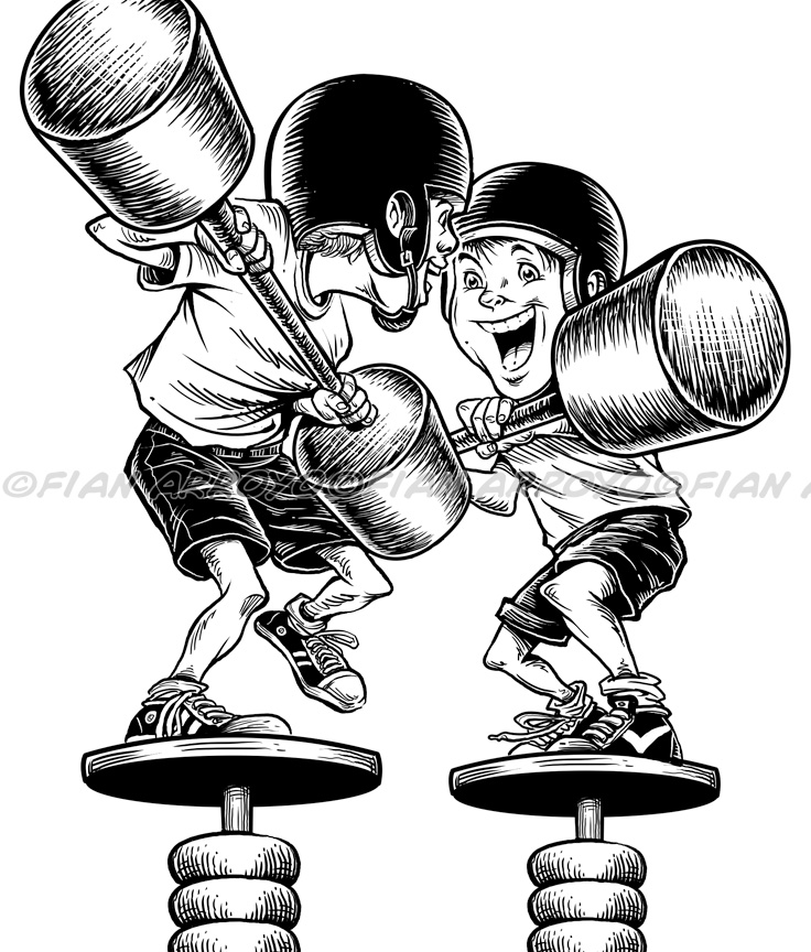 Kids Jousting