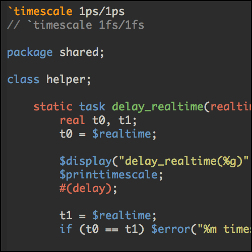 SystemVerilog timescale Across Classes Illustrated — Ten