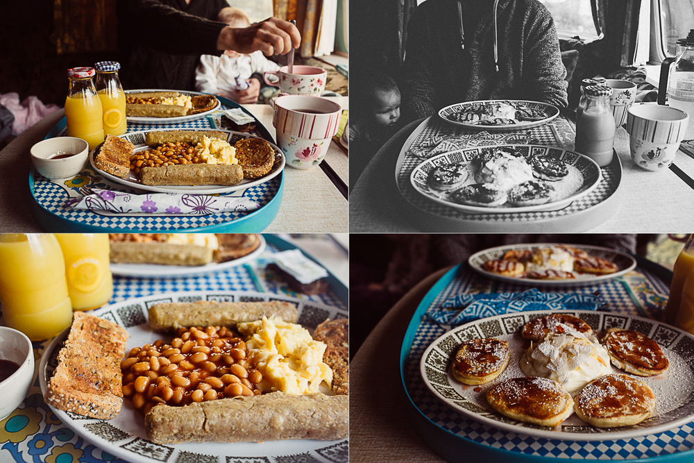 "Amazing Irish breakfast! ""Glamping"" in a vintage camper in Kerry, Ireland. South of Kenmare you can reinvent your idea camping and let your hipster soul fly. Try ""tiny house"" living and be minimalist. Read more on this mama blog and travel blog www.houseofsmilla.com"