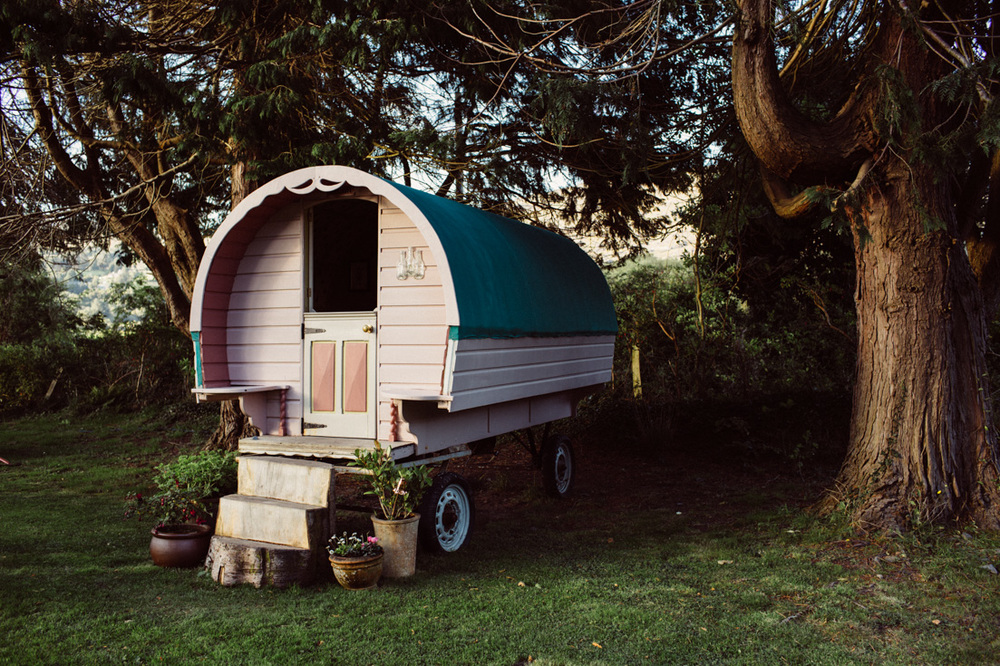 """Glamping"" in a vintage gypsy wagon in Kerry, Ireland. South of Kenmare you can reinvent your idea camping and let your hipster soul fly. Try ""tiny house"" living and be minimalist. Read more on this mama blog and travel blog www.houseofsmilla.com"