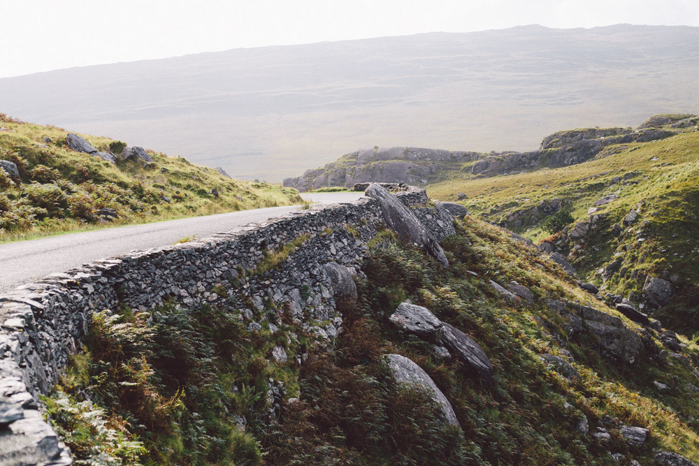 The winding roads of Ireland are treacherous to drive on but very beautiful, Kerry County