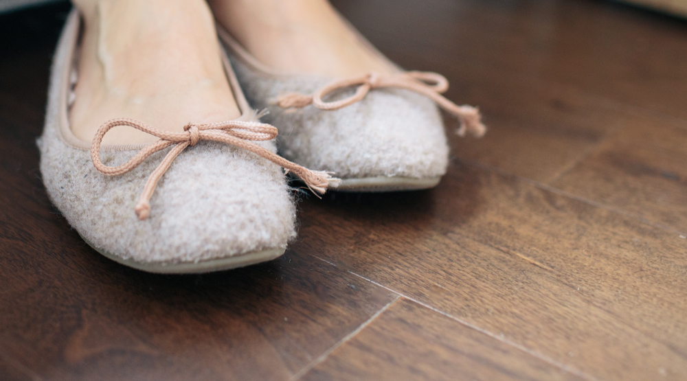 Felt slippers are cozy and warm. The perfect winter shoe