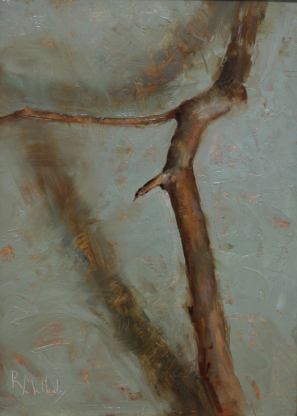 Stick Series #1, 7.5 x 10 inches, Oil on panel