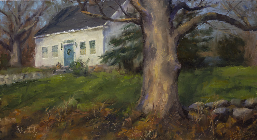 Rimmon Hill Maple, 14 x 7.5 inches, Oil on board