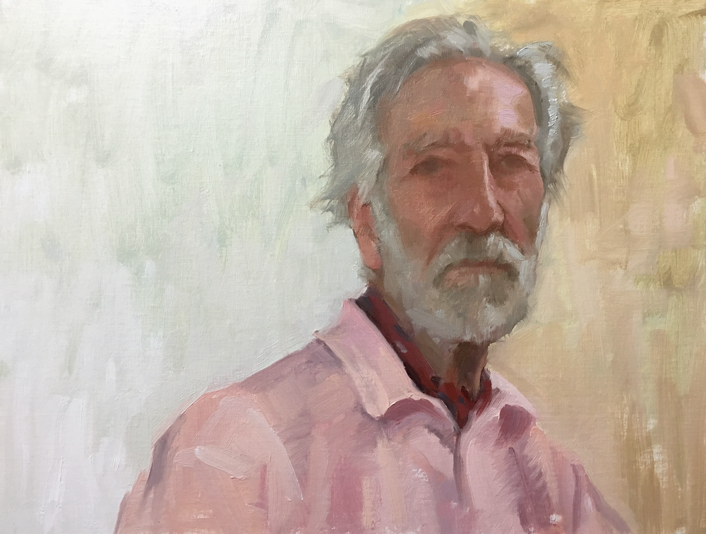 Captain John, 18 x 14 inches, Oil on linen