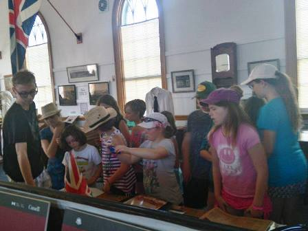 A snapshot from Wednesday's trip to the Historical Society.