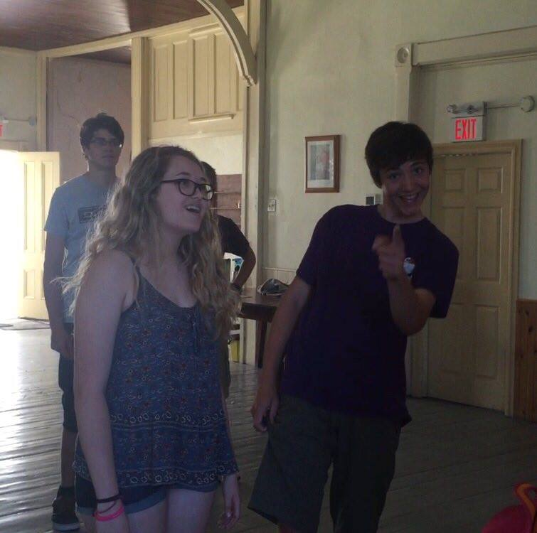 Our Danny and Sandy singing Summer Nights! (Someone caught me taking the picture)