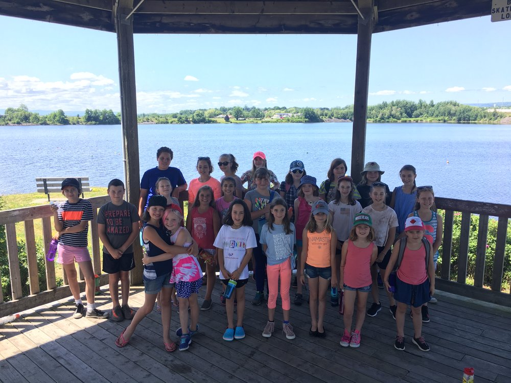 The campers down on the water front in Windsor during their week at camp.  Photo Credits: Holly Lohnes