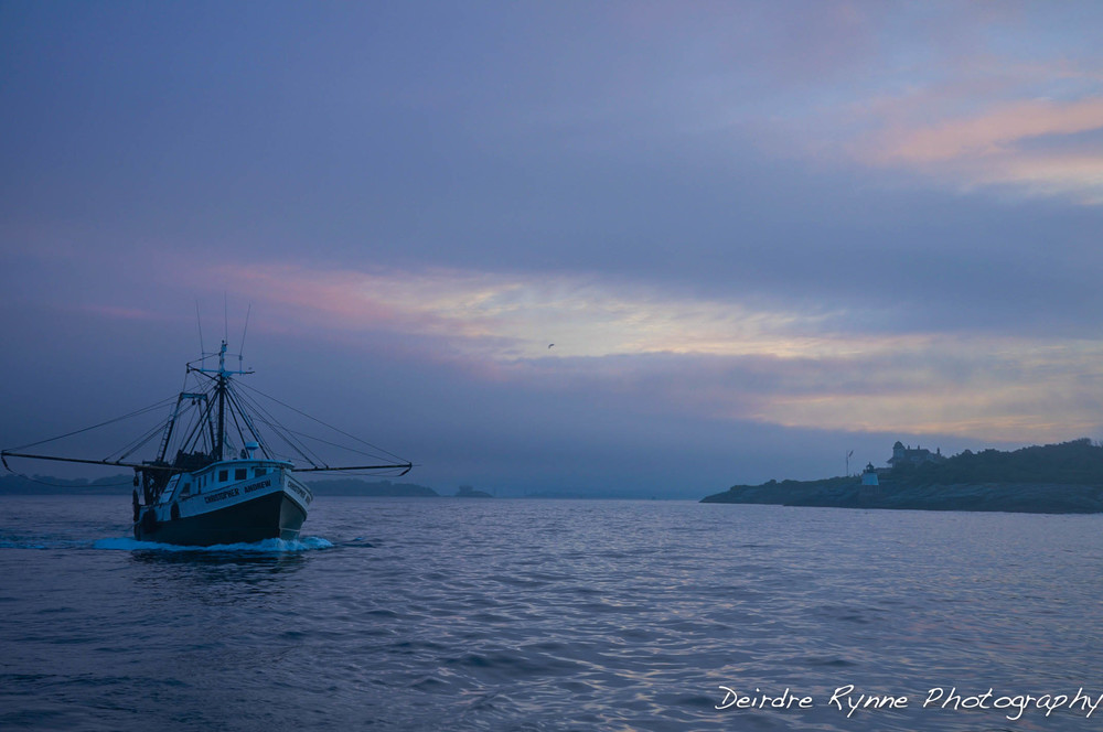 Fishing at Dawn, Newport, Rhode Island. July 2013