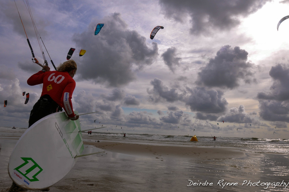 Kitesurfing Worlds Sylt, Germany. June 2011.