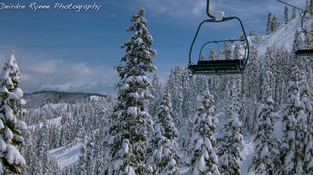 Red Dog Chairlift, Squaw Valley, California. March 2012