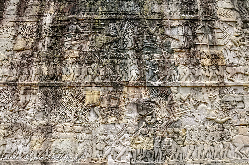 Bas-Relief at Angkor Thom, Cambodia. August 2012