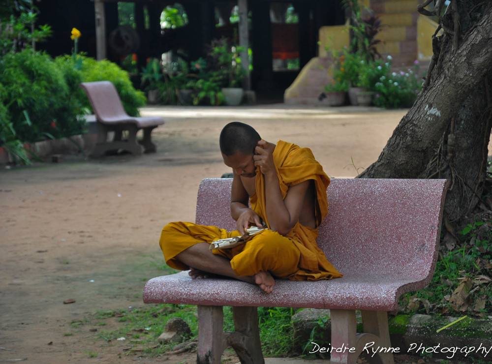 Buddhist Monk-Cambodia. August, 2012