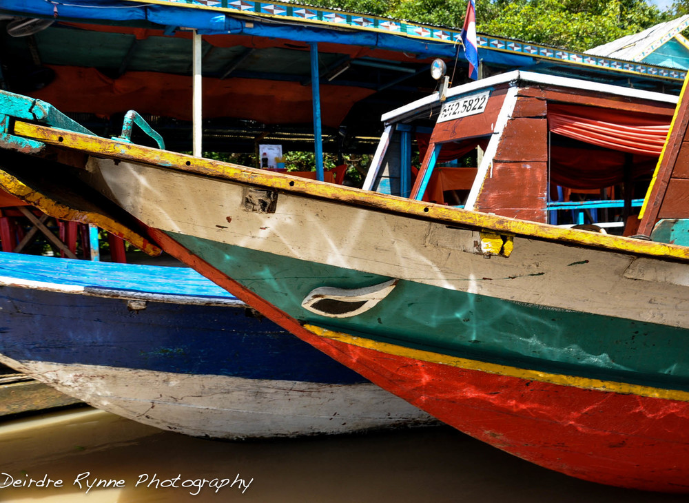 Cambodian Boats-Tonle Sap, Cambodia. August 2012