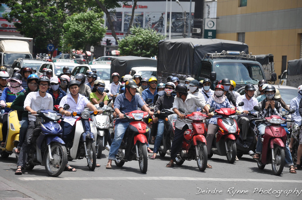 Ho Chi Minh Mopeds, Vietnam. August 2012
