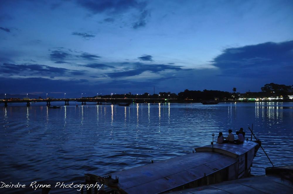 Huế Dusk Perfume River, Vietnam. August 2012