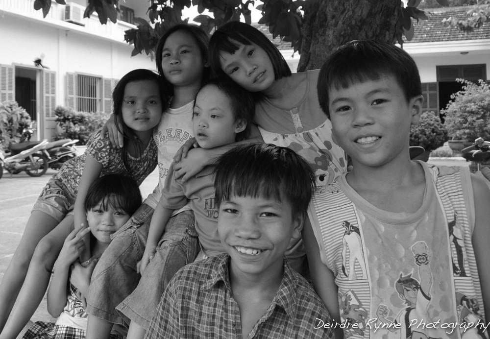 Family Orphan children. Hội An, Vietnam. August 2012