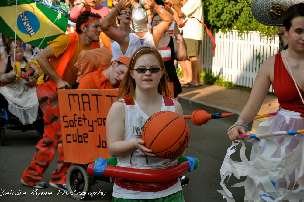 Jabberwockian Olympian. Independence Day Parade, Edgartown, Massacusetts. July 2012