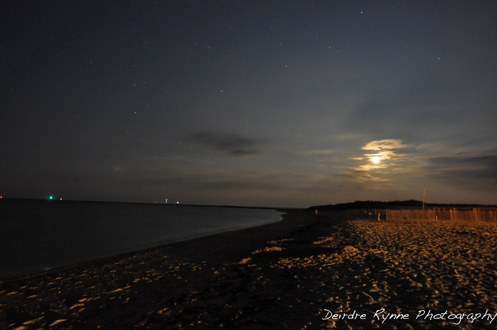 Nantucket Moon, Jetties Beach, Massachusetts. August 2011.