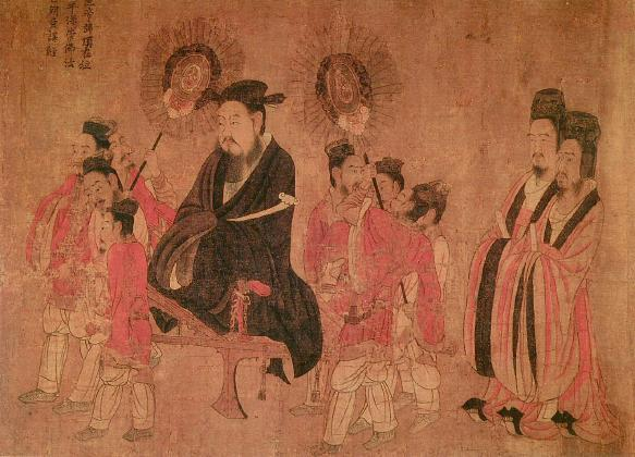 "Attributed to Yan Liben, ""Emperor Xuan and Attendants"""