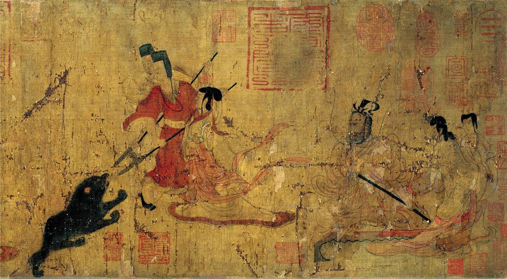"Attributed to Gu Kaizhi, ""Lady Feng and the Bear"""