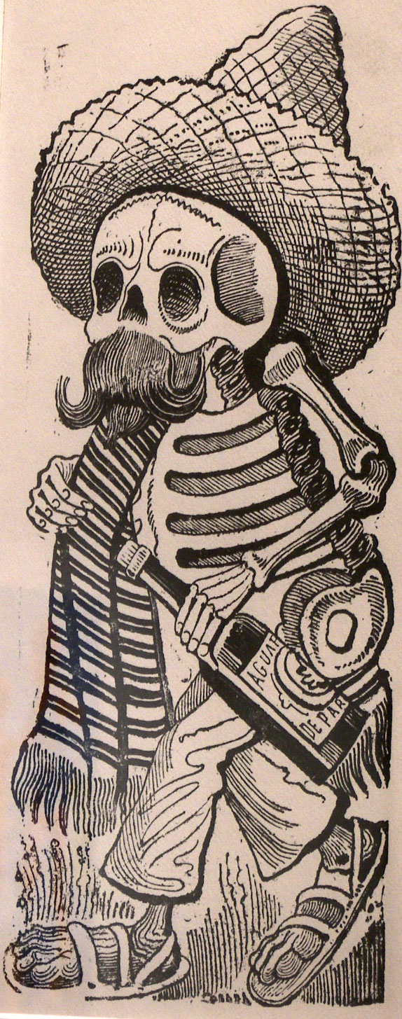 """Calavera de Francisco I. Madero,"" 1910, printed 1930, photo-relief etching with engraving, the Museum of Fine Arts, Houston."