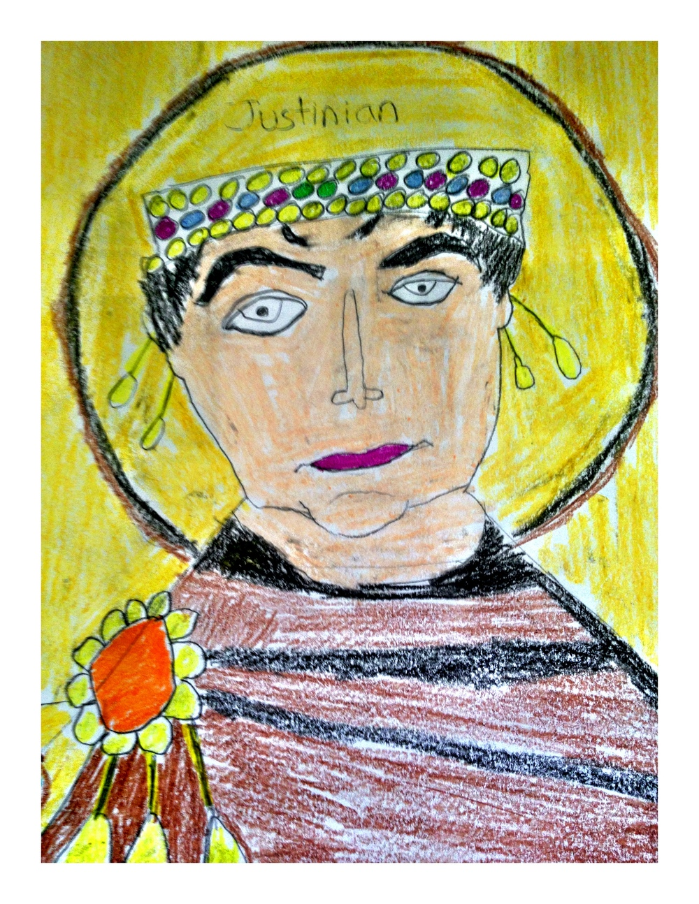 Justinian by 7th Grade Art History Student