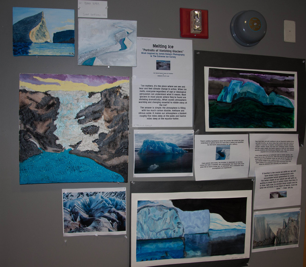 "Finished! School Display of ""Painting Ice Project"""