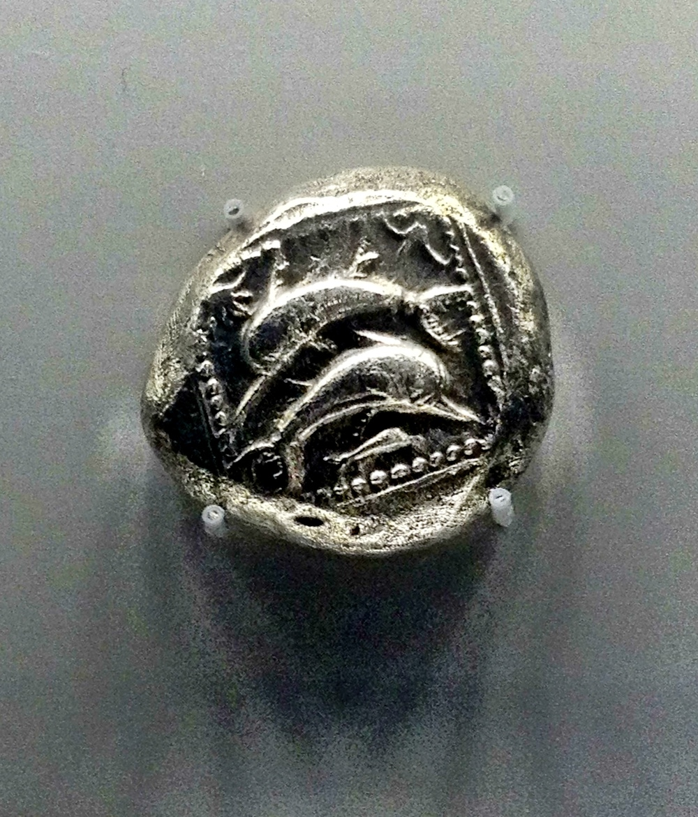 Stater with three dolphins