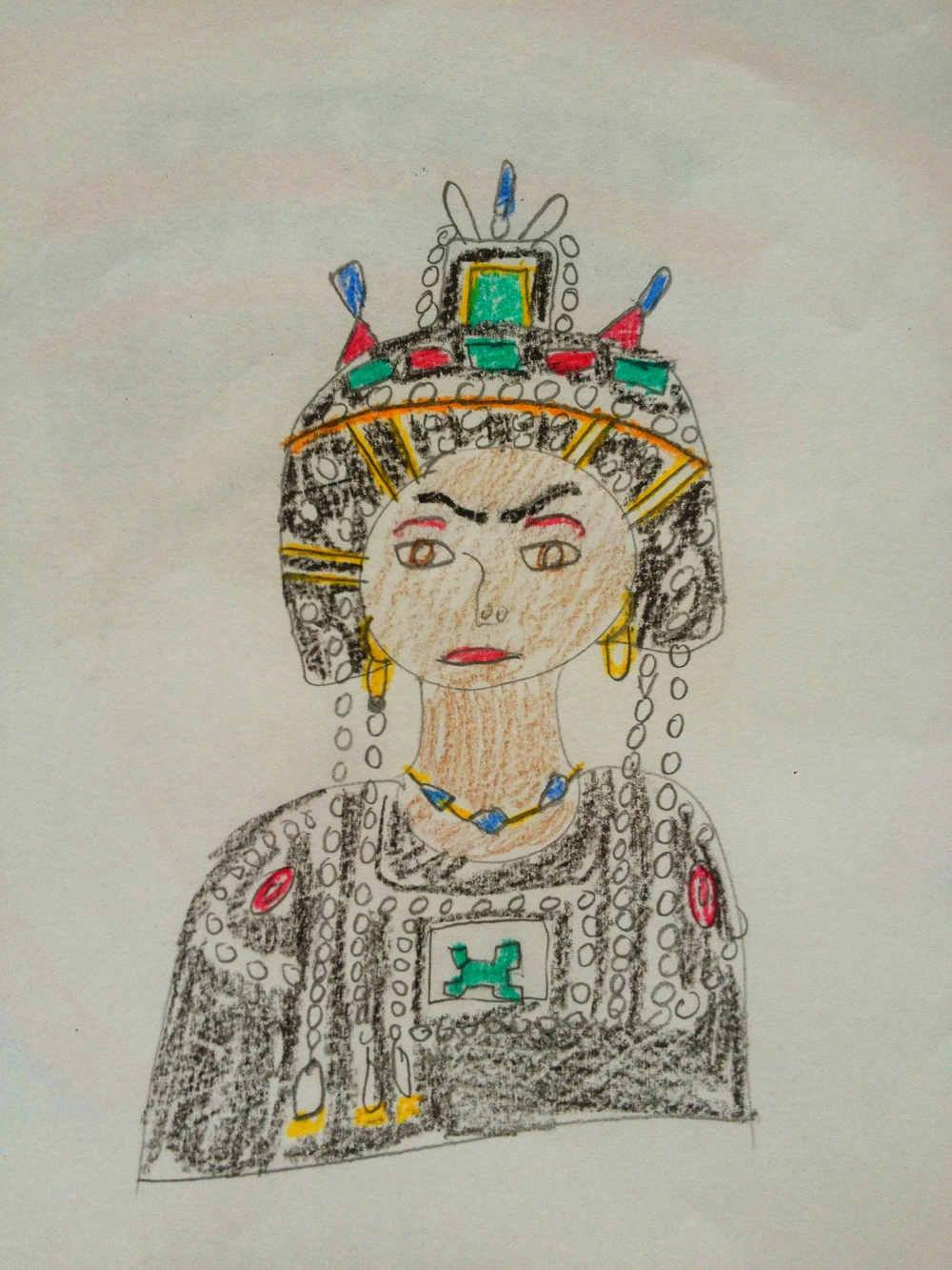 Theodora by 7th Grade Art History Student
