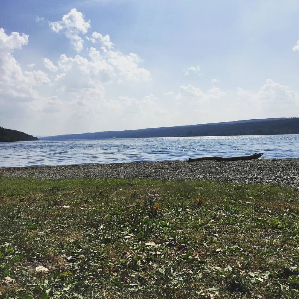 Yay we made it to the lake! Even though the summer is over still got my feet wet and what fantastic weather we are having! #nature #keukalake #fingerlakes #westernNY