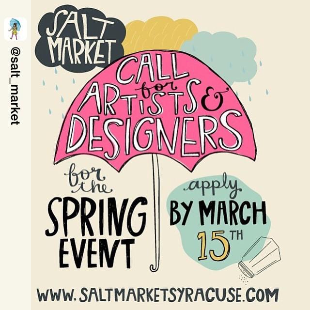 Repost from @salt_market #saltmarket #springevent #syracuse It's this weekend you guys! 🙌🏼