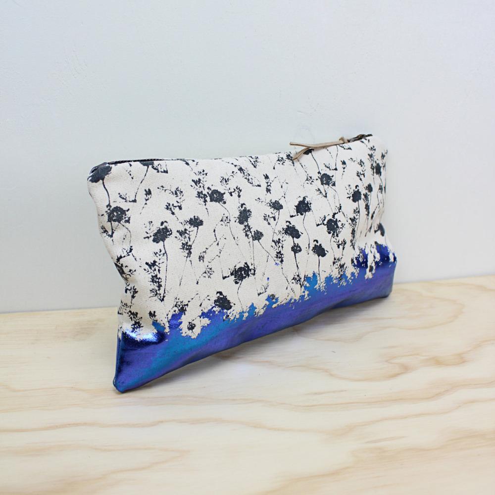 Womens - LAUREL - Hand Printed purse Bag, day or evening bag, Original botanical artwork