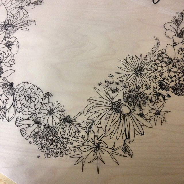 Almost finished a new illustration- #botanicalpattern for tea towels #planetariumdesign #textiledesign #botanicalillustration #floraltexture #patternobserver_texture