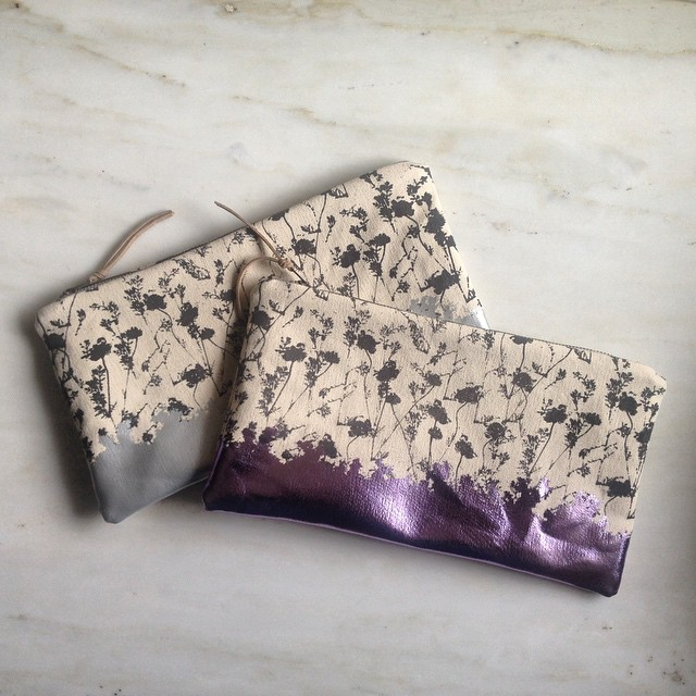 The Laurel bag inspired by a sweet friend 💜 @laurelobrienjewelry More colors coming soon #planetariumdesign #textiledesign #foilbags