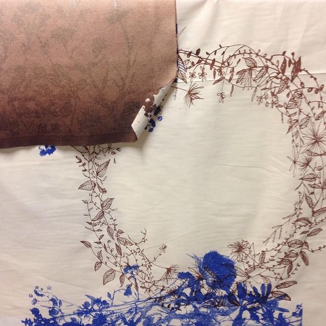Typical studio pic #planetariumdesignstudio #textiledesign #screenprints #fallcolors