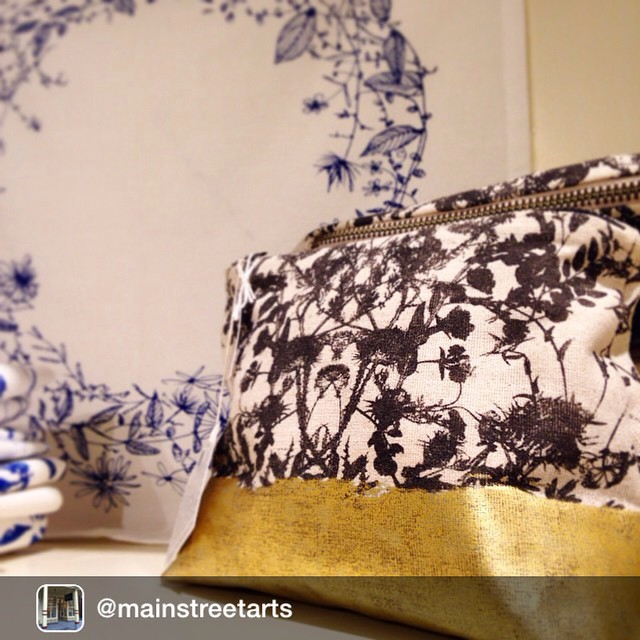 Love this photo! So had just had to Repost from @mainstreetarts We have beautiful bags and napkins by Planetarium Design (@estheryaloz) in the gallery store! Stop by to check out the floral prints and great colors in their work. #planetariumdesign #cliftonsprings #floral #flora #botanicalart
