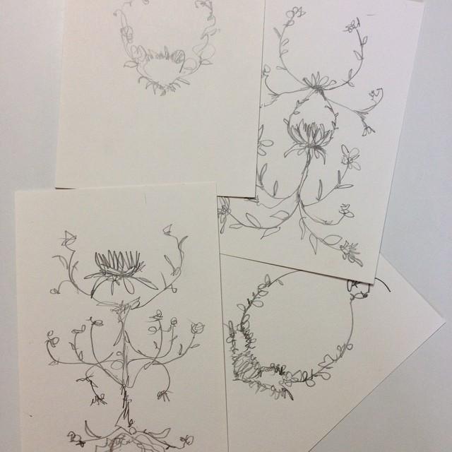 #sketching some ideas #wildthorns #pattern #textiledesign #planetariumdesignstudio