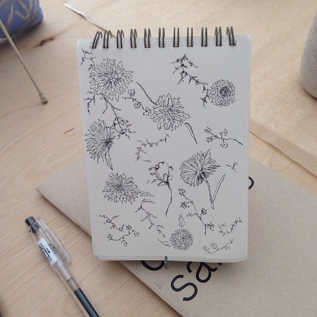 #sketchbooks doodles that might turn into a #pattern #textiledesign #creativityontheroad