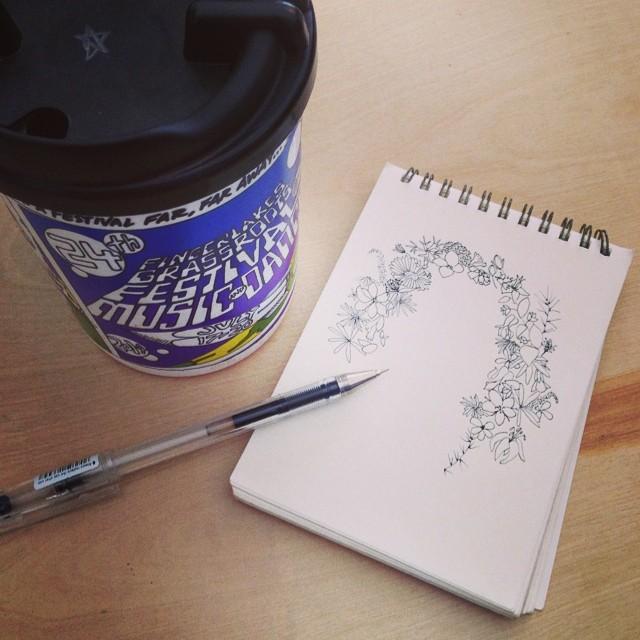 First #fingerlakesgrassroots mug!#planetariumdesign (at Grass Roots Festival)