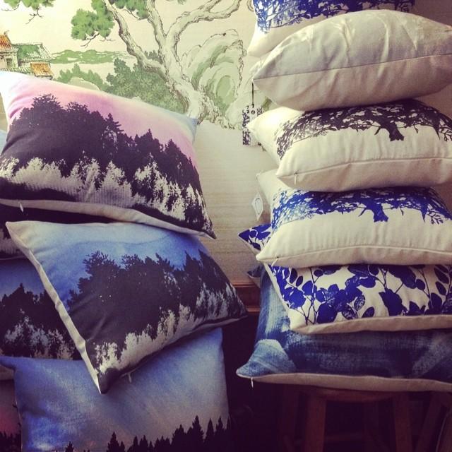 #pillowpile in the studio today #planetariumdesignstudio #textiledesign