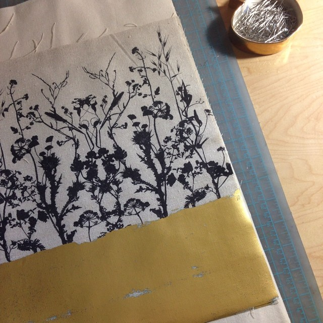 Clutch #bag in the making #planetariumdesignstudio #textiledesign