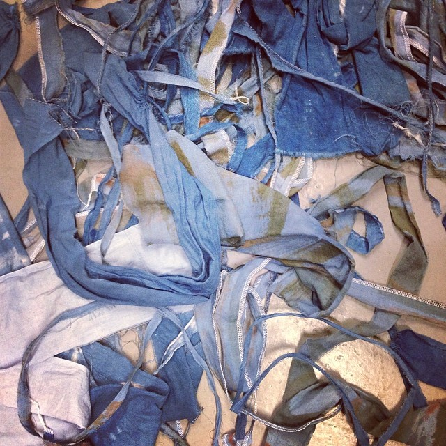 So much fabric remnants #textiledesign #planetariumdesign