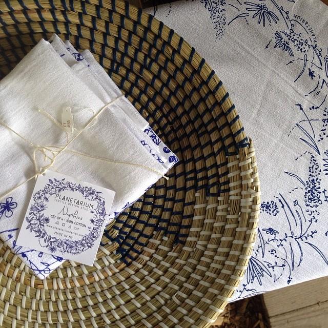 #screenprinted #napkins #ithacafarmersmarket #planetariumdesign #textiledesign (at Ithaca Farmers Market)