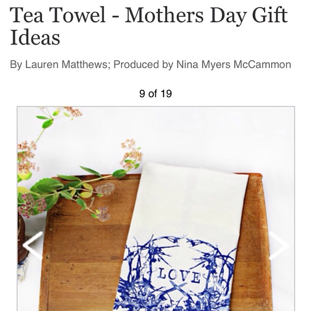Find our flour sack tea towels in @countryliving Mother's Day gift guid #planetariumdesign #textiledesign