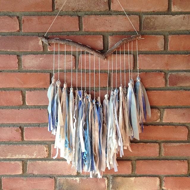 The fabric remnants #wallart #planetariumdesign #textiledesign #pastel #tassels