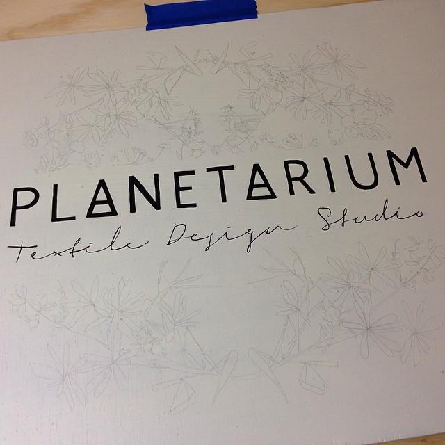 Working on a new sign #planetariumdesign #textiledeisgn