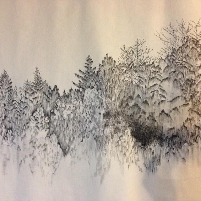 #wallart #illustration #art #nature #textiledesign #planetariumdesign