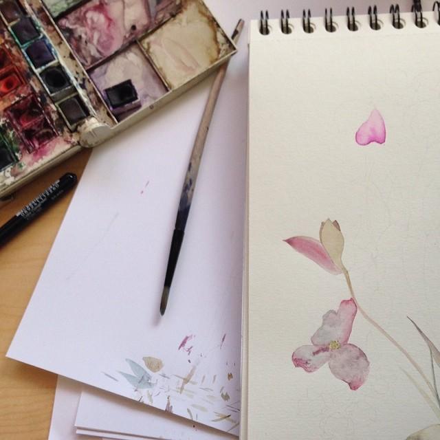 #Floral #watercolors #textiledeisgn